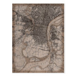 Vintage Philadelphia 1898 Map Post Card