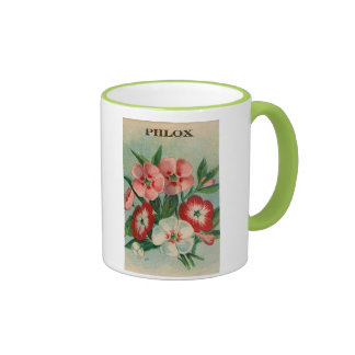 vintage phlox seed packet mug