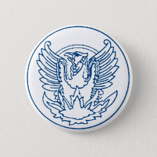 VINTAGE PHOENIX RISING FROM THE FLAMES MEDALLION P 6 CM ROUND BADGE