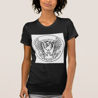 VINTAGE PHOENIX RISING FROM THE FLAMES MEDALLION P T-SHIRTS