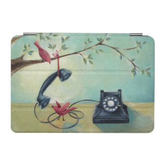 Vintage Phone & Birds iPad Mini Cover