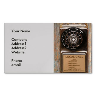 Vintage phone dial telephone rotary antique magnetic business cards