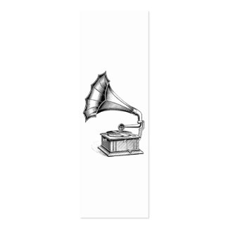 Vintage Phonograph Record Player Music Instrument Pack Of Skinny Business Cards
