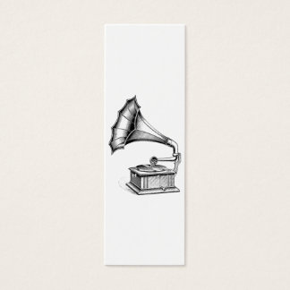 Vintage Phonograph Record Player Music Instrument Mini Business Card
