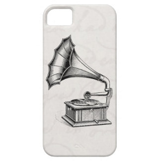Vintage Phonograph Record Player Musical Parchment Case For The iPhone 5