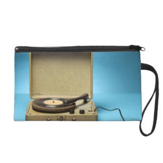 Vintage Phonograph Wristlet