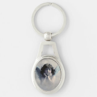Vintage Photo Angel Key Ring