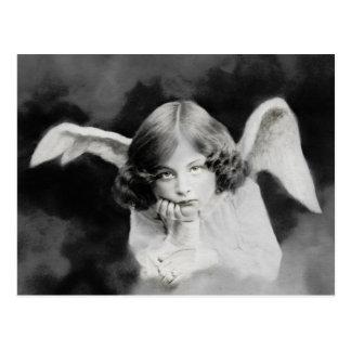 Vintage photo angel postcard