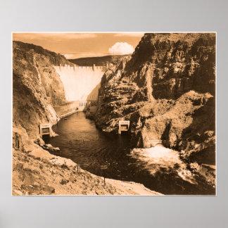 Vintage photo Boulder Dam Posters