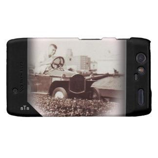 Vintage Photo Boy Amusement Car Ride Monogram Motorola Droid RAZR Cover