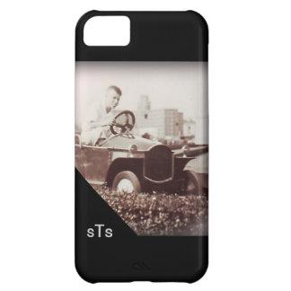 Vintage Photo Boy Amusement Car Ride Monogram iPhone 5C Case