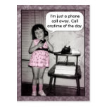 Vintage Photo Custom Phone Call Away Postcard