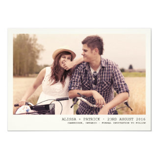 Vintage Photo Frame Save The Date Announcement