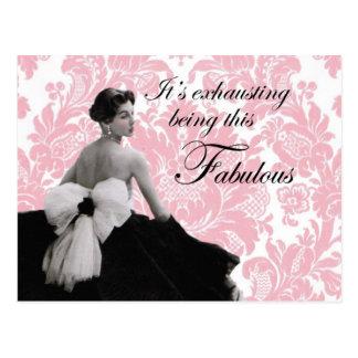 Vintage photo french lady fashion  postcard