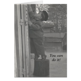 Vintage Photo Greeting: You can do it! Greeting Card