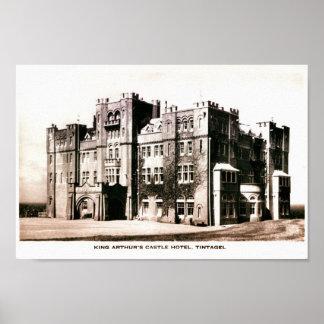 Vintage photo King Arthur Castle Hotel Tintagel Print