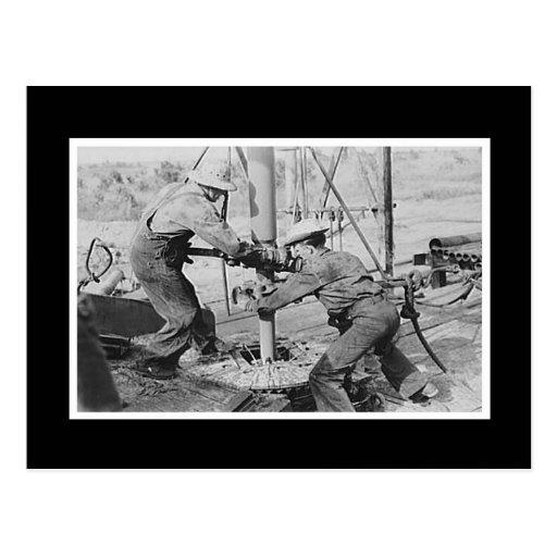 Vintage Photo Men Working Postcards