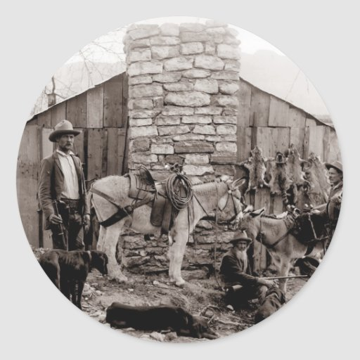 Vintage Photo of a Trappers Cabin Stickers