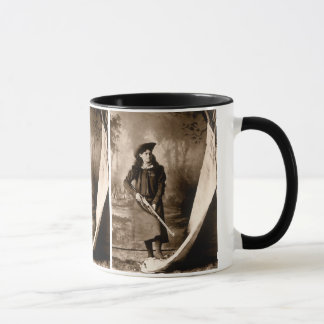 Vintage Photo of Miss Annie Oakley Holding a Rifle Mug