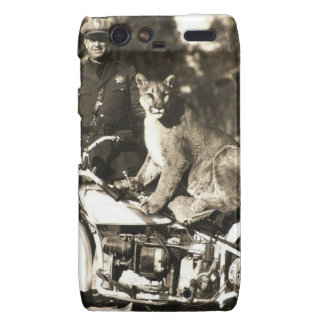 vintage photo of police officer on motorcycle puma droid RAZR covers