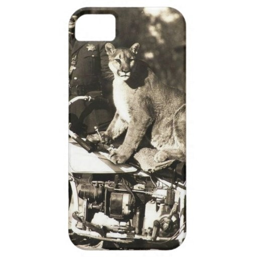vintage photo of police officer on motorcycle puma iPhone 5 covers