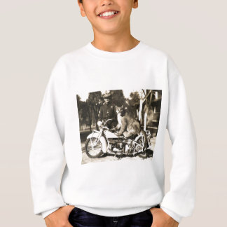 vintage photo of police officer on motorcycle puma tshirt