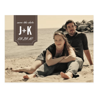 Vintage Photo Save the Date Card Template Postcards