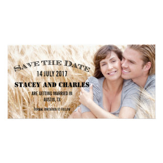 VINTAGE PHOTO SAVE THE DATE CUSTOMISED PHOTO CARD