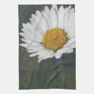 Vintage photograph flower daisy towel