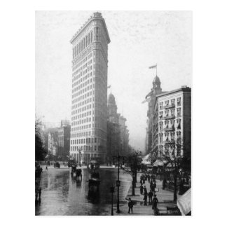 Vintage Photograph of the Flatiron Building NYC Postcard