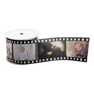 Vintage Photography Film Negative Framing 2 Satin Ribbon