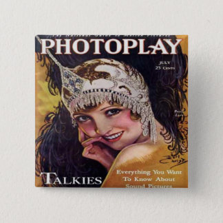 Vintage Photoplay Film Magazine Cover 1929 15 Cm Square Badge