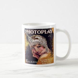 Vintage Photoplay Film Magazine Cover 1929 Basic White Mug