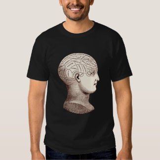 Vintage Phrenological Brain Sectional T-Shirt
