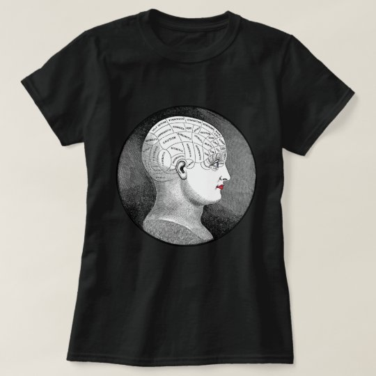 Vintage Phrenology Head Girl T-Shirt