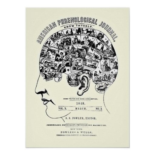 Vintage Phrenology Poster