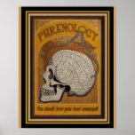 Vintage Phrenology Poster  16 x 20
