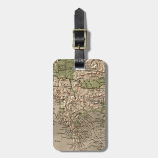 Vintage Physical Map of Greece (1880) Luggage Tag