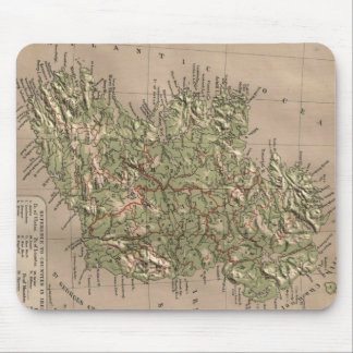 Vintage Physical Map of Ireland (1880) Mouse Mat