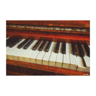 Vintage Piano and Keys Wrapped Canvas Art Gallery Wrapped Canvas