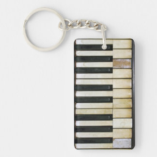 Vintage Piano Double-Sided Rectangular Acrylic Key Ring