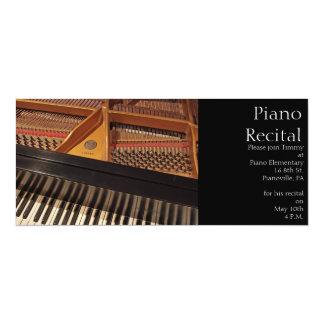 """Vintage Piano Invitation 4"""" X 9.25"""" Invitation Card"""