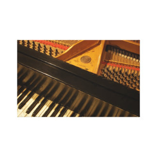 Vintage Piano Keyboard Painting Canvas Print