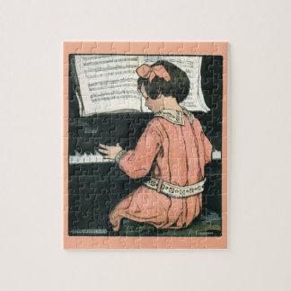 Vintage Piano Music Girl by Jessie Willcox Smith Jigsaw Puzzle
