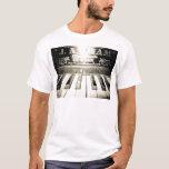 Vintage Piano Print Mens Shirt