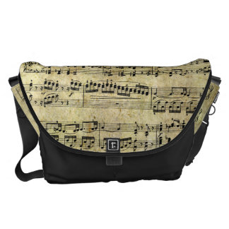 Vintage Piano Sheet Music Notes Courier Bags
