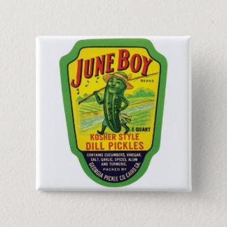 Vintage Pickles Food Product Label 15 Cm Square Badge