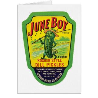 Vintage Pickles Food Product Label Card