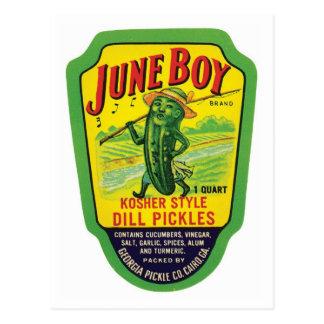 Vintage Pickles Food Product Label Post Card