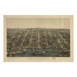 Vintage Pictorial Map of Alexandria VA (1863) Poster